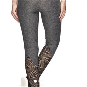Sam Edelman grey melange lace leggings